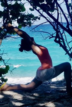 yoga pose, crescent lunge